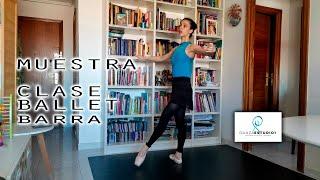 MUESTRA CLASE BALLET BARRA ESTUDIO 1