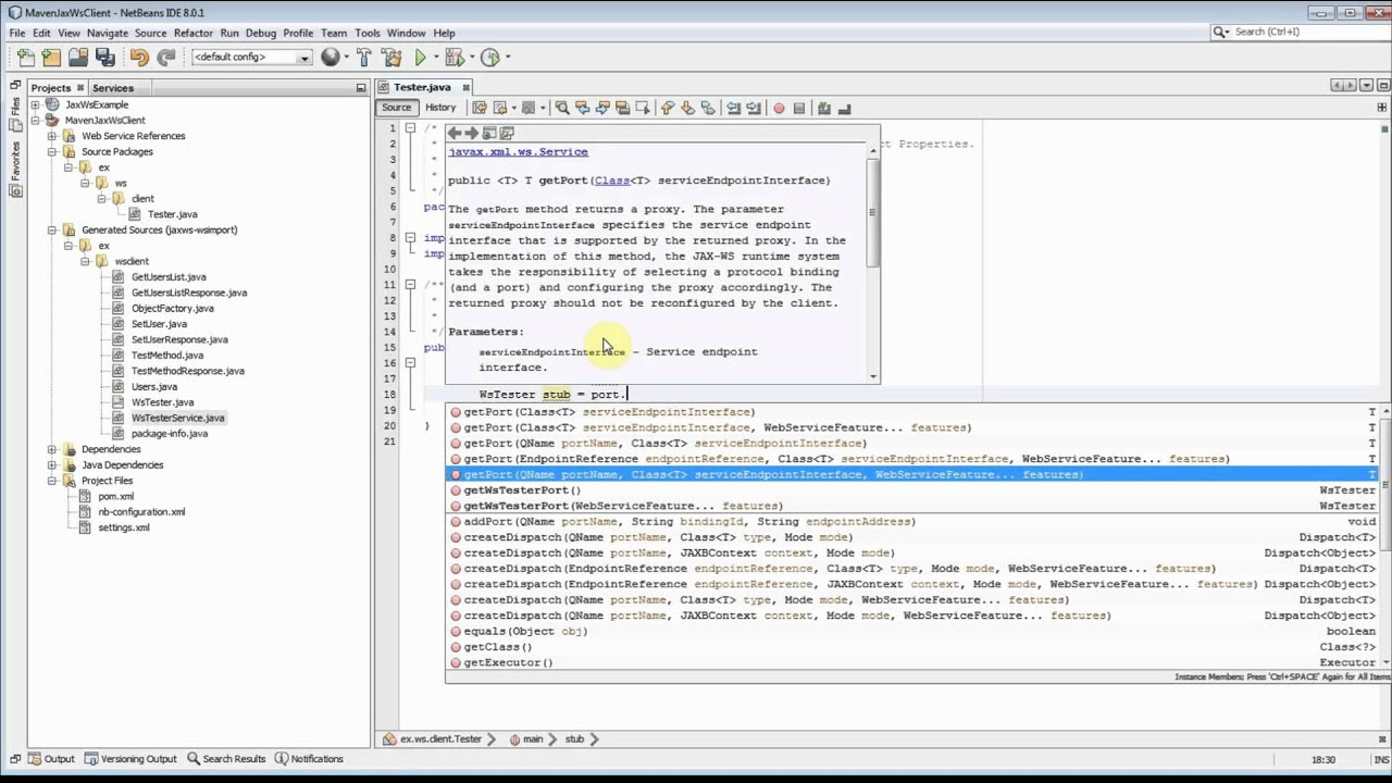 How To create Maven Jax-Ws Client with WSDL URL