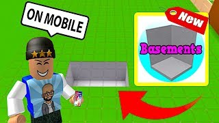 HOW TO INSTALL BLOXBURG BASEMENT ON MOBILE! ROBLOX BUILDING | FAN REQUESTED | FAMBAM GAMING