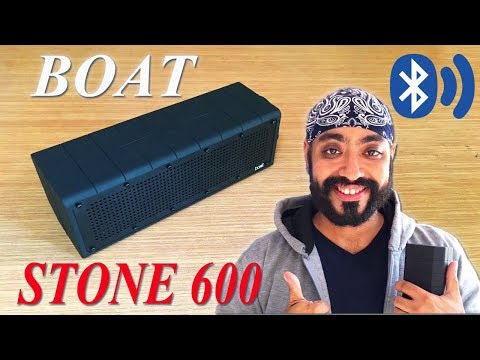 Boat Stone 600 portable bluetooth music box review and unboxing in India
