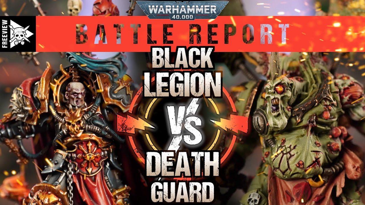 Black Legion vs Death Guard 2000pts | Warhammer 40,000 Battle Report