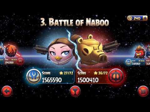 Angry birds star wars beat all bosses challenge ep1