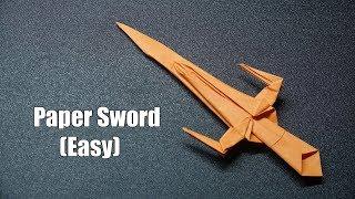 How to make a Paper Sword PART 8   Easy Origami Tutorial   DIY Ninja Sword