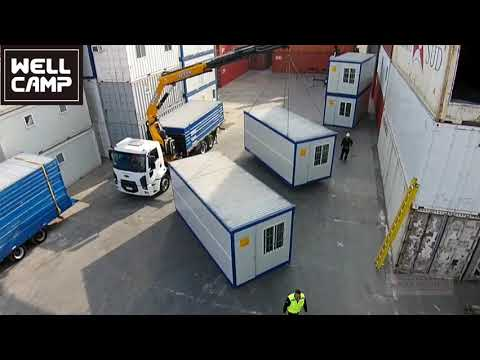 Wellcamp Modern Flat Pack Folding Container Prefabricated Modular House Projects