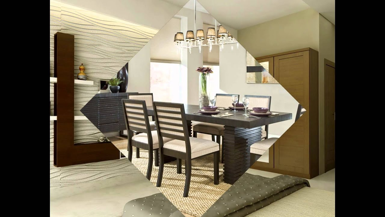 Contemporary modern dining room design in kerala trends ideas room design youtube - Latest dining room trends to follow ...