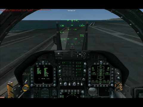 FSX Carrier Landing, Sludge Hornet w/new IFLOLS VC Gauge, part 1