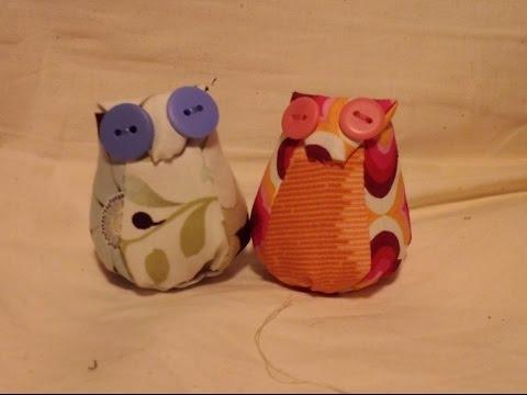 Owl Pincushion - YouTube