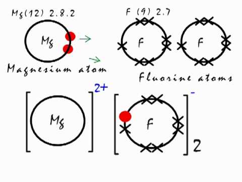 This is how the ionic bond forms in Magnesium Fluoride