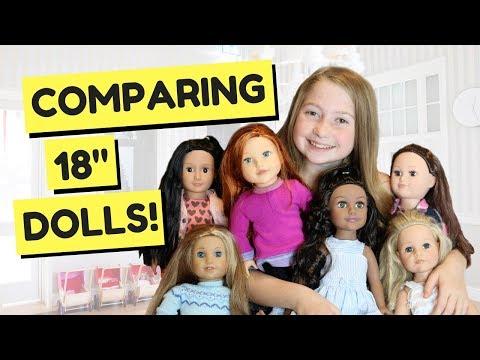 COMPARING 18 INCH DOLLS!!! AMERICAN GIRL VS OUR GENERATION JOURNEY GIRLS  | Rilyn Dinyae