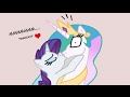 [MLP Comic Dub] Thankful Rarity (saucy comedy - Rarity/Celestia)