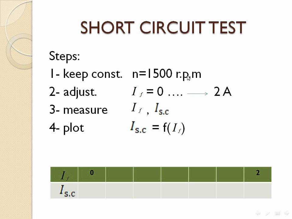 Open Circuit And Short Circuit Test Of Synchronous Machine