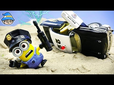 The Minions police car fell. Become a police officer and catch the villain.
