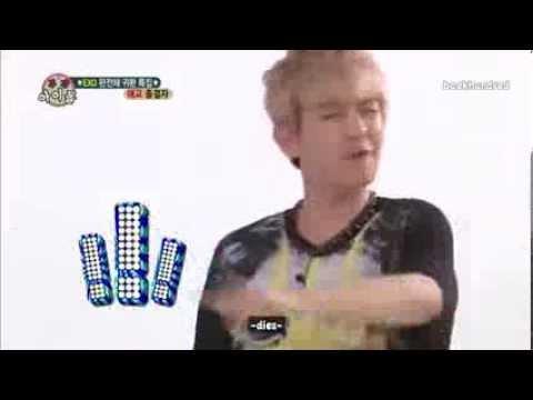 130814 weekly idol exo baekhyun aegyo youtube
