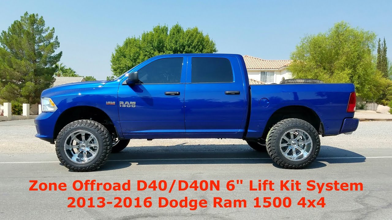 4 Inch Lift Kit For Dodge Ram 1500 4wd >> Zone Offroad D40 D40n D41 D41n 6 Lift Kit System 2013 2018