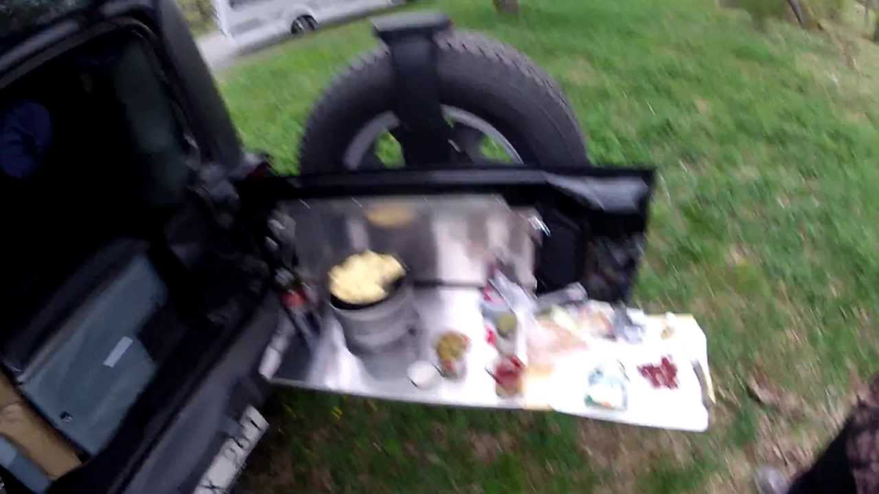 Camping With My Jeep Wrangler And Making Food In The Field. YouTube ...