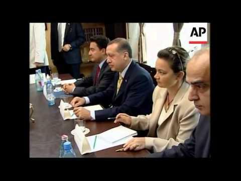 Georgian President Saakashvili and Turkish PM Erdogan meeting