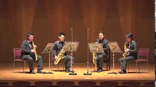 """Sax.4重奏 アンダンテとカプリチォ:木下牧子 """"Andante & Capriccio"""" for sax. quartet:KINOSHITA Makiko"""