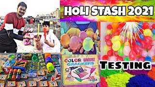 होली Stash Testing 2021 | Latest Collection | Colour Crackers 😍 Unique  Testing | Holi Testing 2021