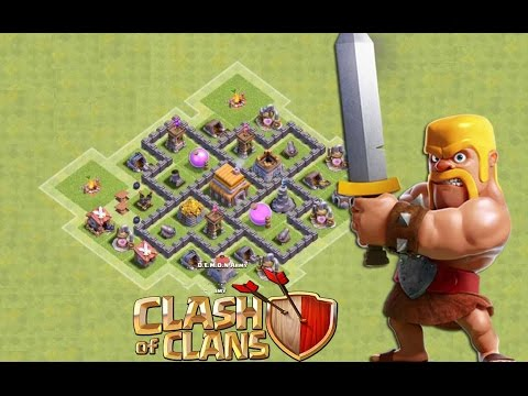 Clash of Clans Town Hall 5 Defense (CoC TH5) BEST Village Base Layout Defense Strategy 2016