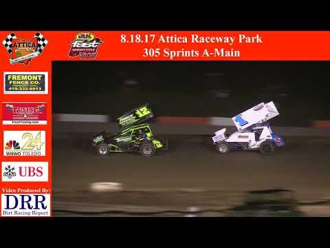 8.18.17 Attica Raceway Park 305 Sprints A-Main