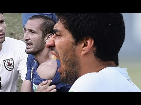 """Luis Suarez nach Biss: """"Passiert eben!""""   Italien - Uruguay 0:1   FIFA WM 2014 Brasilien"""
