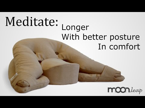 Ergonomic Meditation Cushion By Moonleap Overview And How To Use - Best meditation cushions to buy right now