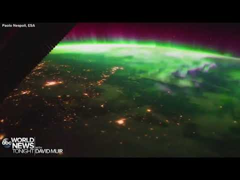 VIEWS FROM SPACE The ESA - European Space Agency astronaut Paolo Nespoli captured