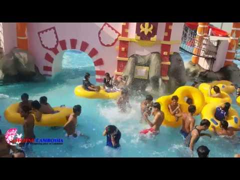 Cambodia Holidays at Phnom Penh Ground Water Park - Swimming in water Park in Phnom Penh