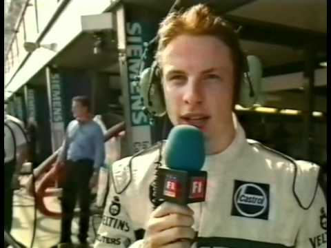 Jenson Button interview after his first race in F1