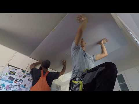 fix-plasterboard-on-top-of-old-ceiling