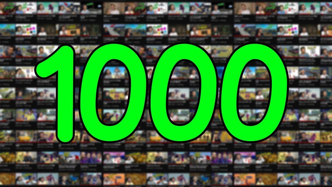 ألف فيديو ! 1000