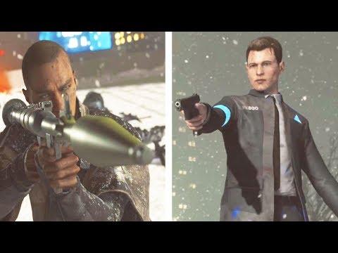 Connor Vs Markus (All Endings) - Detroit Become Human