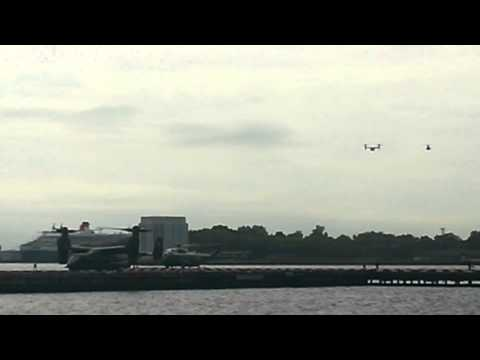 President Obama landing at Wall Street heliport