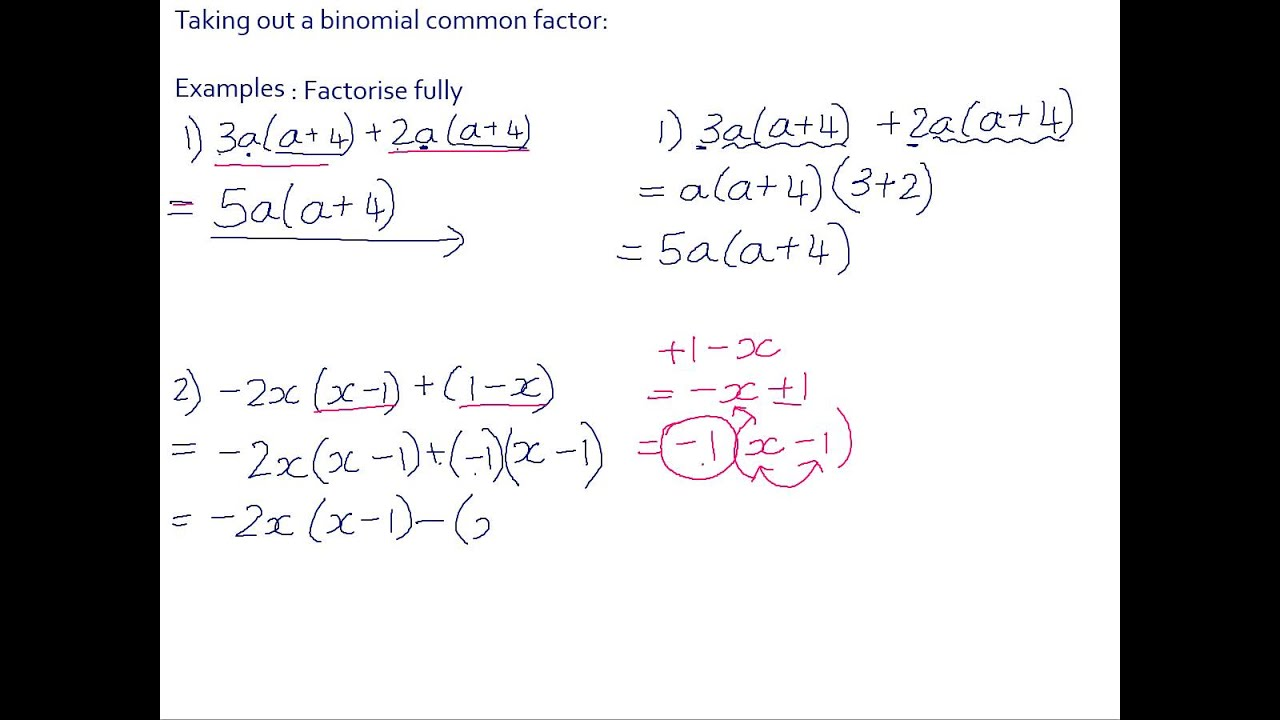 how to factor a binomial