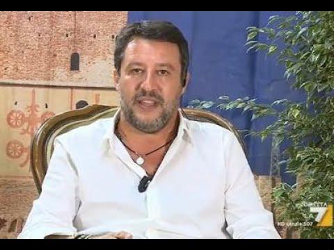 """Salvini: """"I 49 milioni? Sono stati spesi"""" Salvini perseguitvato dai giornalisti Tv di sinistra"""