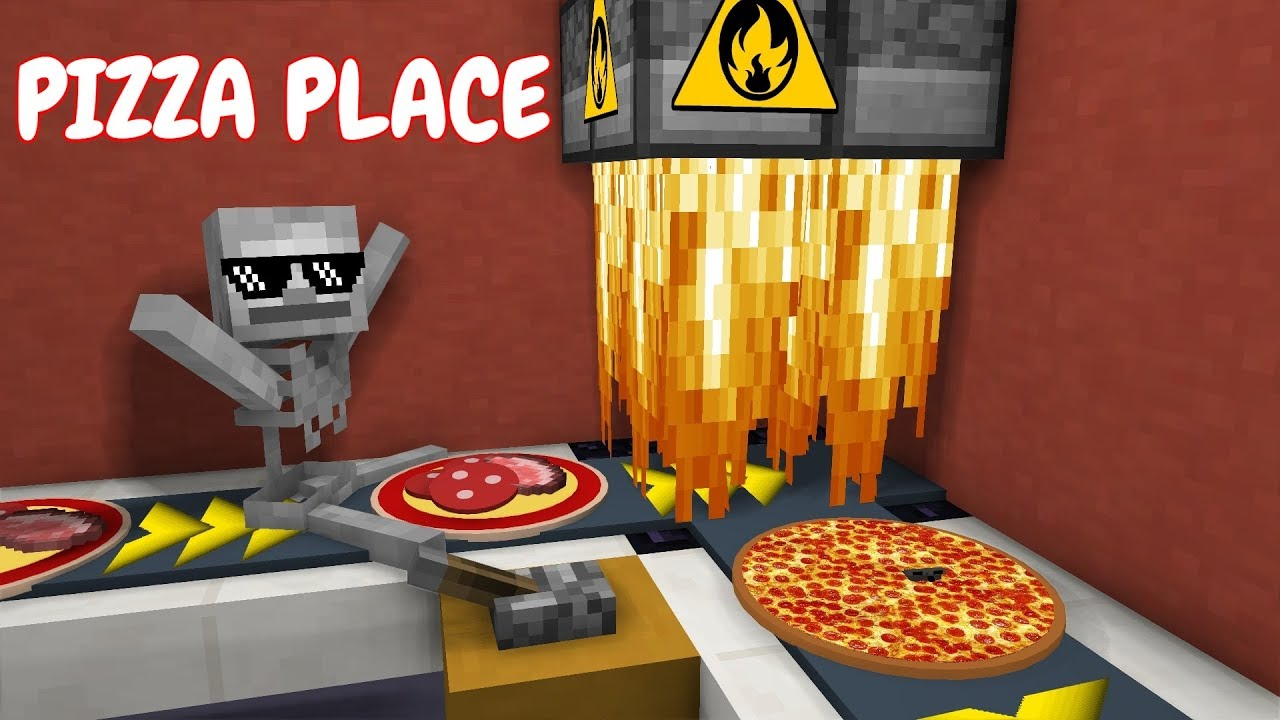 monster school work at pizza place minecraft animation youtube