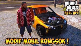 SULTAN MODIF MOBIL SPORT RONGSOK JADI MOBIL KONTES !!  GTA 5 MOD DUNIA NYATA (GTA 5 REAL LIFE)