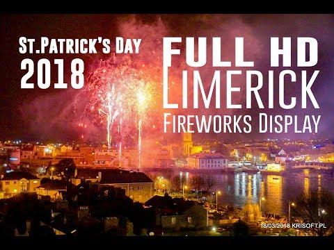 Limerick's St. Patrick's Festival Extravaganza - Fireworks Display 2018