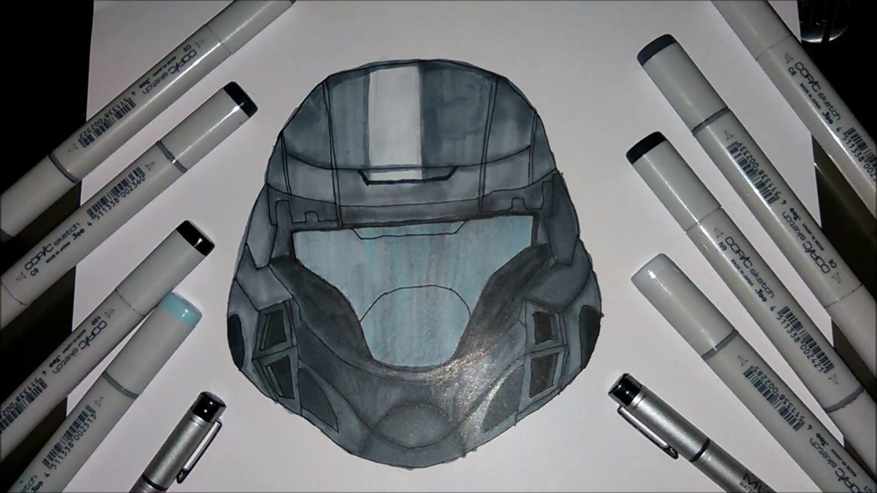 This is a photo of Genius Halo Helmet Drawing