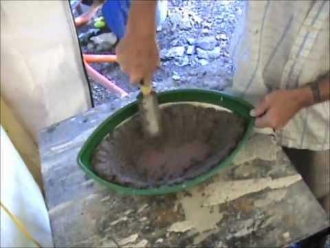 Diymolds Com Moulding Concrete Birdbath Planter Freehand Youtube