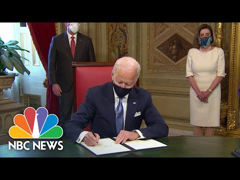 Biden Participates In Signing Ceremony For Inaugural Proclamation And Cabinet Nominations | NBC News