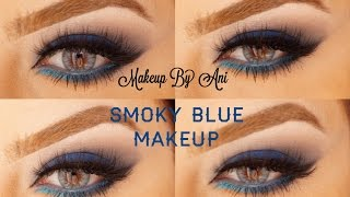 Blue smoky eyes with liner Makeupbyani Thumbnail