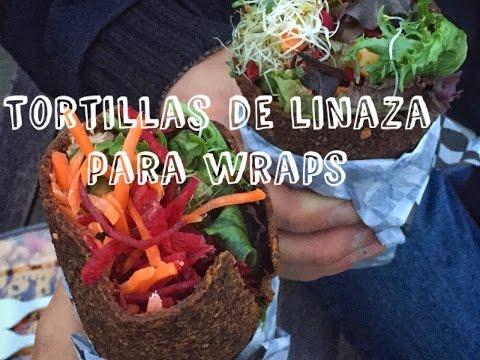 TORTILLAS DE LINAZA PARA WRAPS! - Sin gluten, saludable y baja en grasas ♥