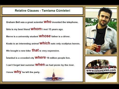 18. Relative Clauses - Tamlama Cümleleri