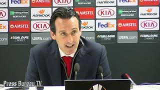 Unai Emery reaction Arsenal vs BATE Borisov