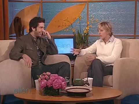 David Schwimmer on The Ellen  in 2004 Part 1