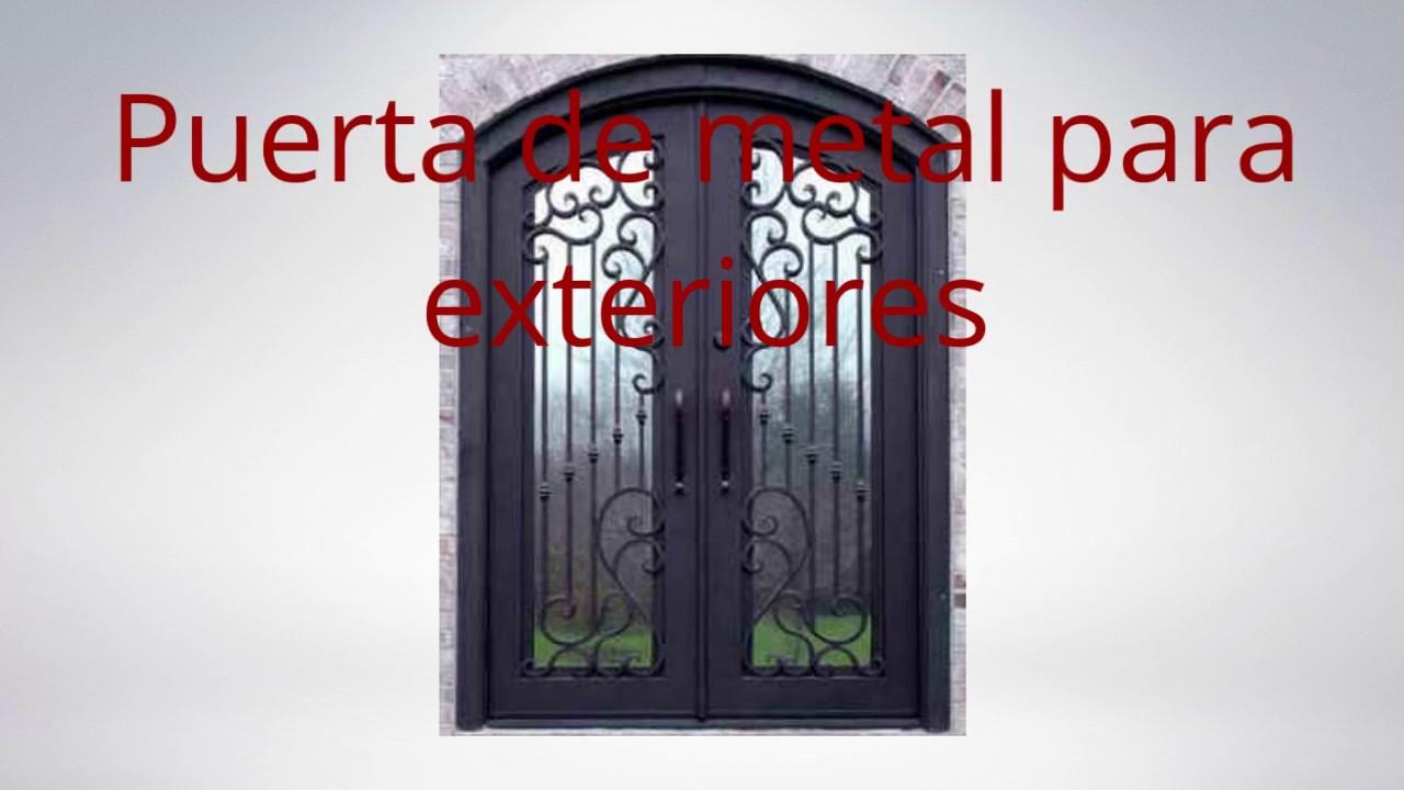 Estilos de puertas de metal youtube for Puertas de metal con vidrio modernas