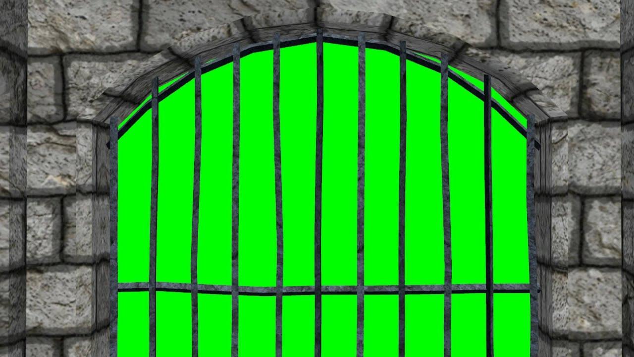 Looking Through Dungeon Window Green Screen Effect Youtube