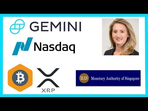 Crypto Hedge Funds Rise - Nasdaq COO Gemini - Singapore Crypto Banking - Mercado Bitcoin Ripple XRP