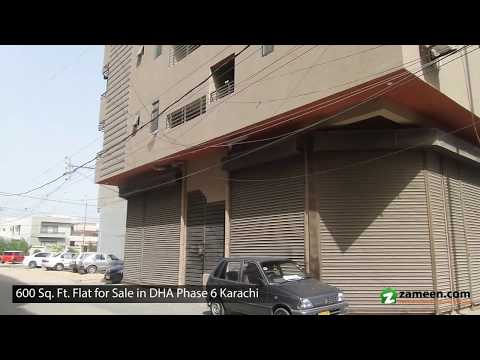600 Sq. Ft. FLAT FOR SALE IN PHASE 6 DHA KARACHI